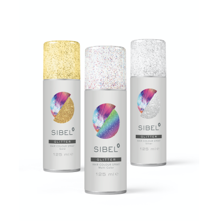 Glitterspray till håret - Blandade färger