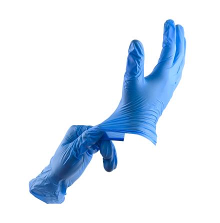 Nitrilhandskar blå L