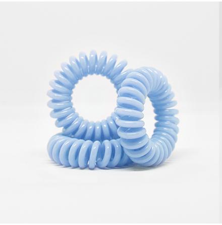 Spiralsnodd pastell blå