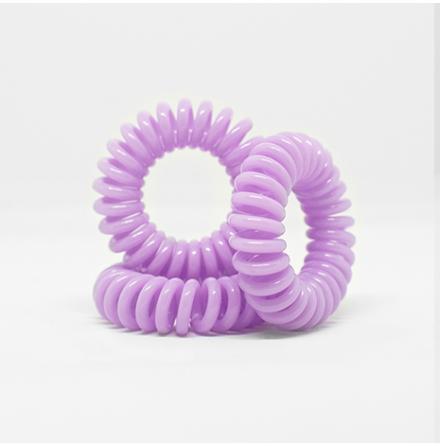 Spiralsnodd pastell lila